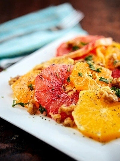 Citrus Salad with Poppy Seed Dressing | The Poppy Seed Dressing compliments the tangy sweetness of the fruits, and the nuts add both protein and crunch, making this a really flavorful dish to add to any healthy menu this year.