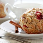 rustic apple cranberry muffin
