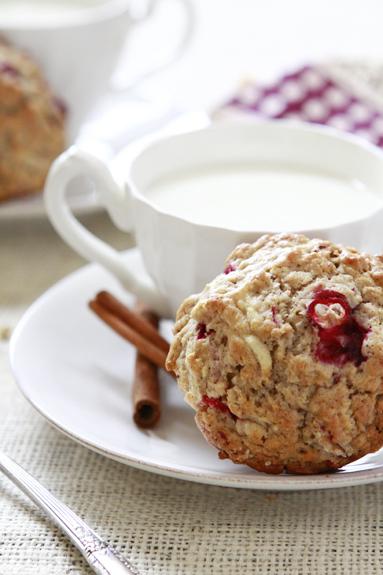rustic cranberry apple oatmeal muffin