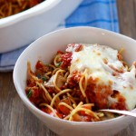 Baked Sausage and Vegetable Spaghetti