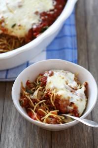 Barilla Plus Baked Sausage Spaghetti