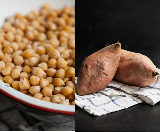Spiced Chickpea Smothered Sweet Potato | Sweet Potato Recipe | Good ...