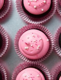 Chocolate Valentine's Cupcakes