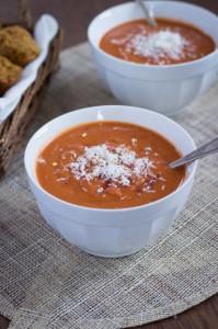 Quick & Healthy Tomato Bisque with Quinoa via Queen of Quinoa for Good Life Eats