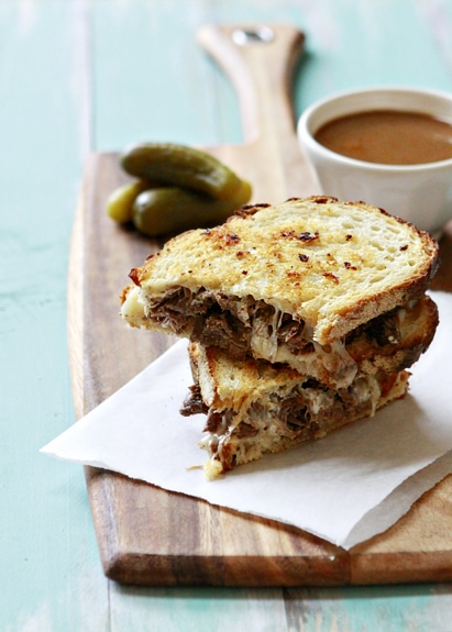 Slow Cooker French Dip Panini