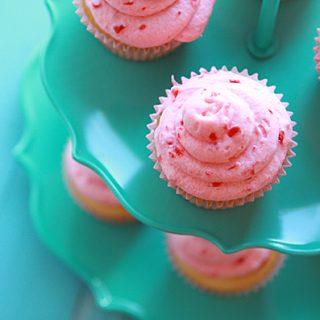 Cherry Vanilla Valentine Cupcake