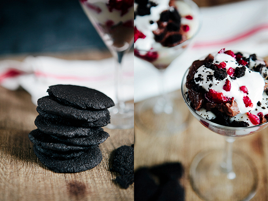 White Chocolate and Dark Chocolate Raspberry Pudding Parfaits