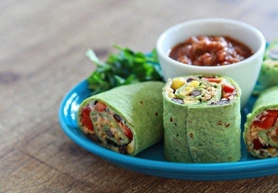 Queso Fresco & Chipotle Chicken and Veggie Wraps