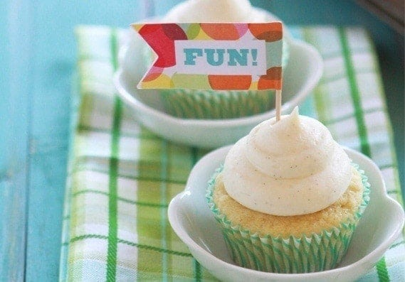 Vanilla Bean Cupcakes and Vanilla Bean Cream Cheese Frosting | Vanilla cupcakes are classic, but you can switch it up a bit with some homemade vanilla bean cream cheese frosting.