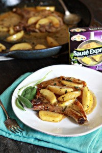 Apple Cider Sage Pork Chops with Caramelized Apples