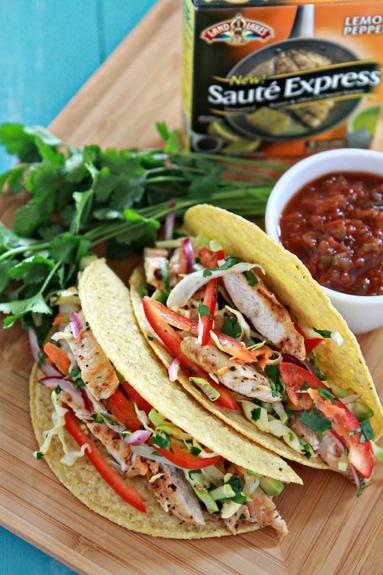 Lemon Pepper Tacos with Cilantro-Lime Slaw
