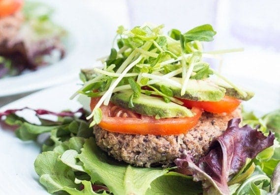A simple veggie burger that is loaded with Latin flavors, these black bean quinoa burgers are a cinch to whip up and are naturally gluten-free!