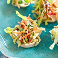Asian Salad Wonton Cups - Easy Summer Appetizer