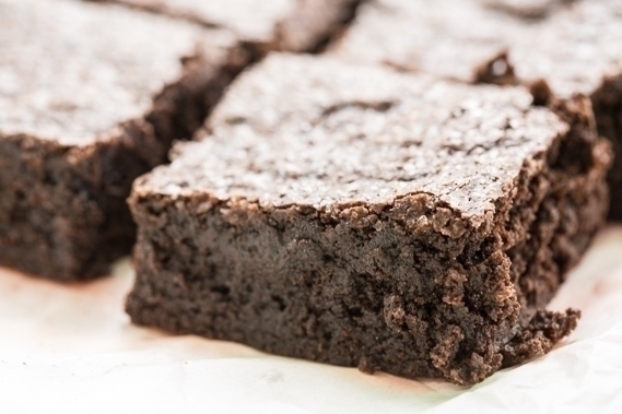 Salted Fudge Brownies | Salty and crunchy topping with a fudgy brownie underneath.