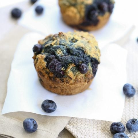 Whole Wheat Blueberry Muffins for Two