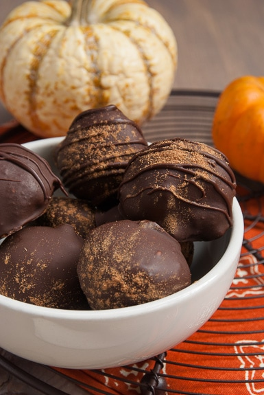 Pumpkin Pie Truffles Recipe from Carla's Confections