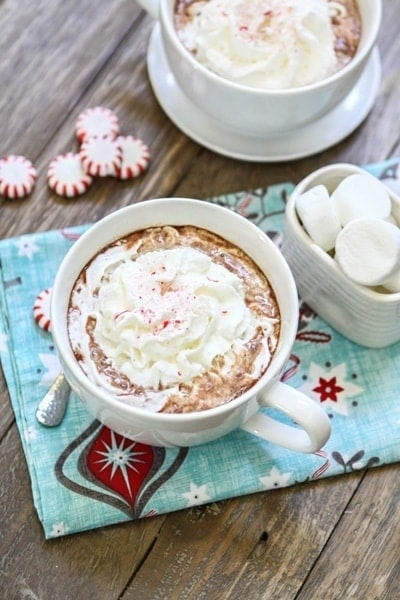 Candy Cane Hot Cocoa | Candy Cane Hot Cocoa is perfect for the cold and snowy nights during the winter!