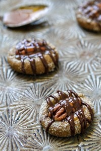 Caramel Pecan Gingersnap Thumbprints