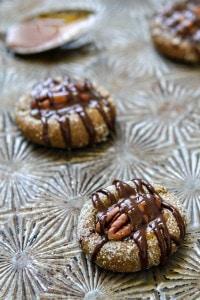 Caramel Pecan Gingersnap Thumbprints