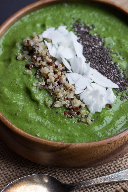Green Smoothie Bowl from Queen of Quinoa on Good Life Eats