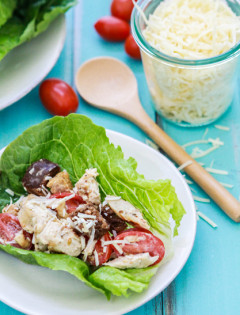 chicken casesar lettuce wrap