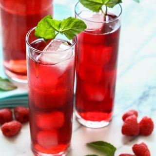 Raspberry Hibiscus Soda