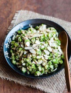 Spring Asparagus Quinoa Salad with Tarragon Vinaigrette