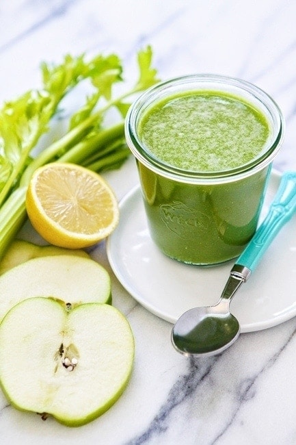 Pineapple Kale Green Apple Smoothie