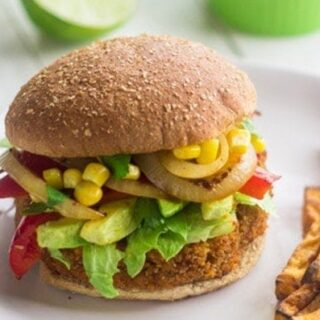 Southwestern Sweet Potato Burger
