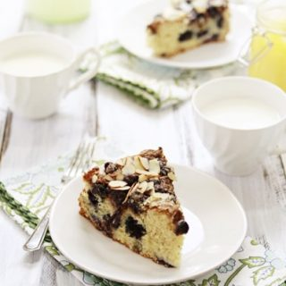 Almond and Blueberry Lemon Curd Coffee Cake