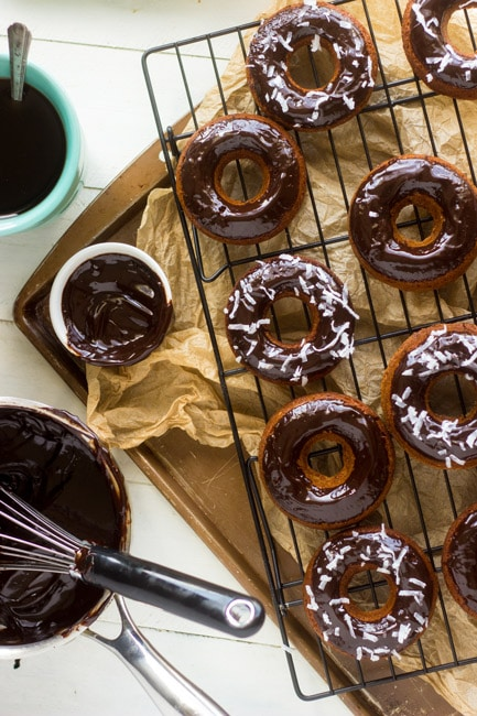 Gluten Free, Baked Almond Joy Donuts - GoodLife Eats