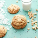 lemon white chocolate coconut cookies