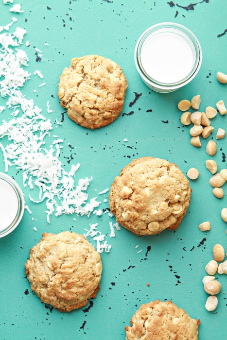 cookies and milk on an aqua background