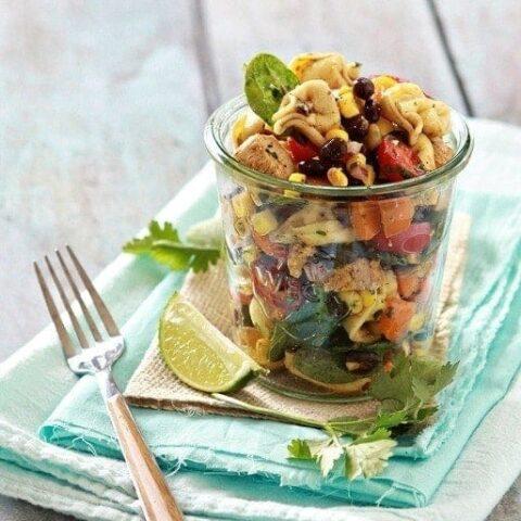 Rainbow Tex-Mex Tortellini Salad