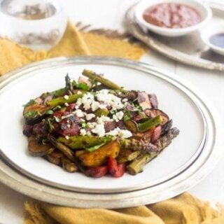 Grilled Mediterranean Vegetable Salad with Tomato Balsamic Vinaigrette