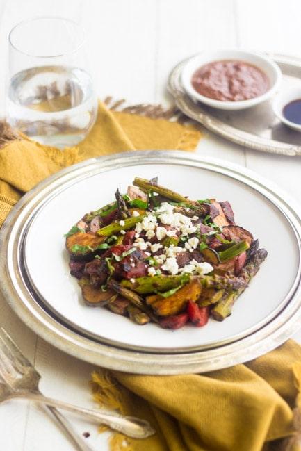 Grilled Mediterranean Veggie Salad - GoodLife Eats