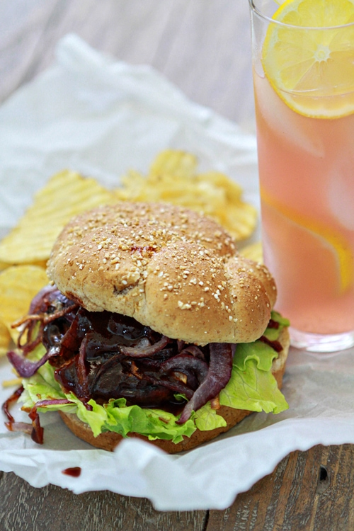 more burger recipes on goodlife eats fajita burger with peppers and ...