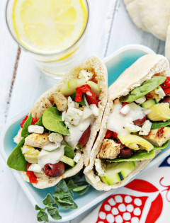 Grilled Chicken Greek Pita Pockets