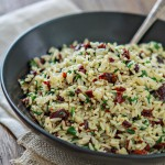 Sun Dried Tomato Spinach Rice Pilaf