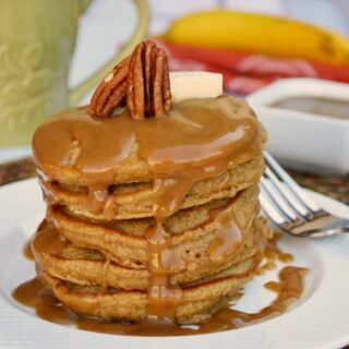 Ginger Molasses Pancakes with Brown Sugar Glaze