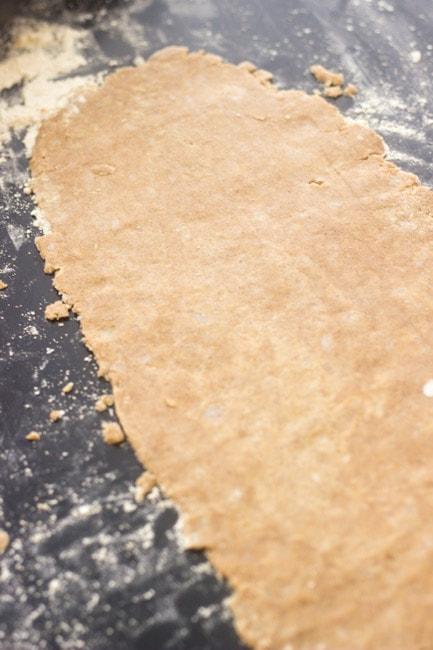 Homemade pop tart dough that's been rolled out