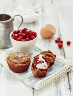Cranberry Gingerbread Muffin Recipe