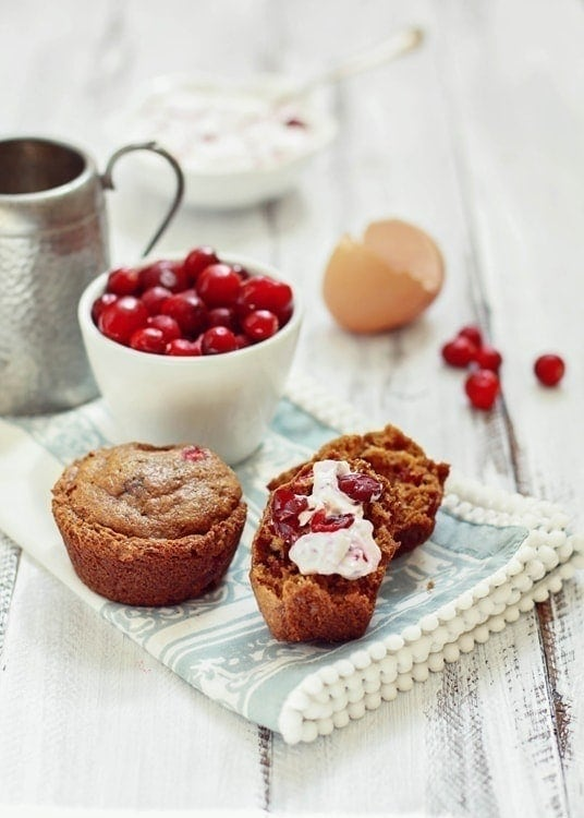 Cranberry Gingerbread Muffin Recipe