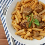 Butternut Squash Sauce with Sausage Meatballs