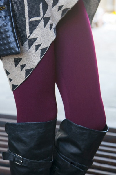 SOLID FLEECE LINED LEGGINGS - White Plum Giveaway and Coupon Code