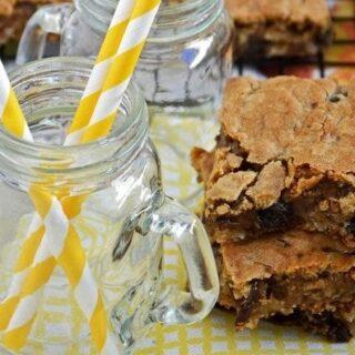 Gluten Free Oatmeal Raisin Cookie Bars