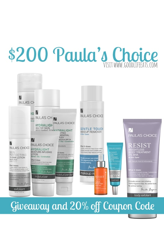 Paula's Choice Giveaway and Paula's Choice Coupon Code