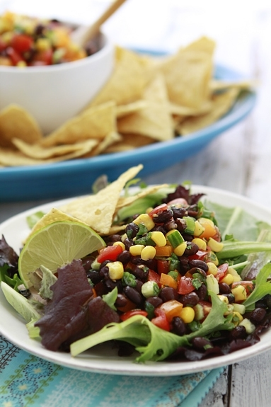 Easy Black Bean Salad with corn