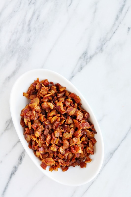 Perfect Homemade Bacon Bits are super easy to make at home, and way better tasting than store-bought!