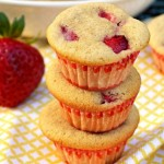 gluten free strawberry maple mini muffins